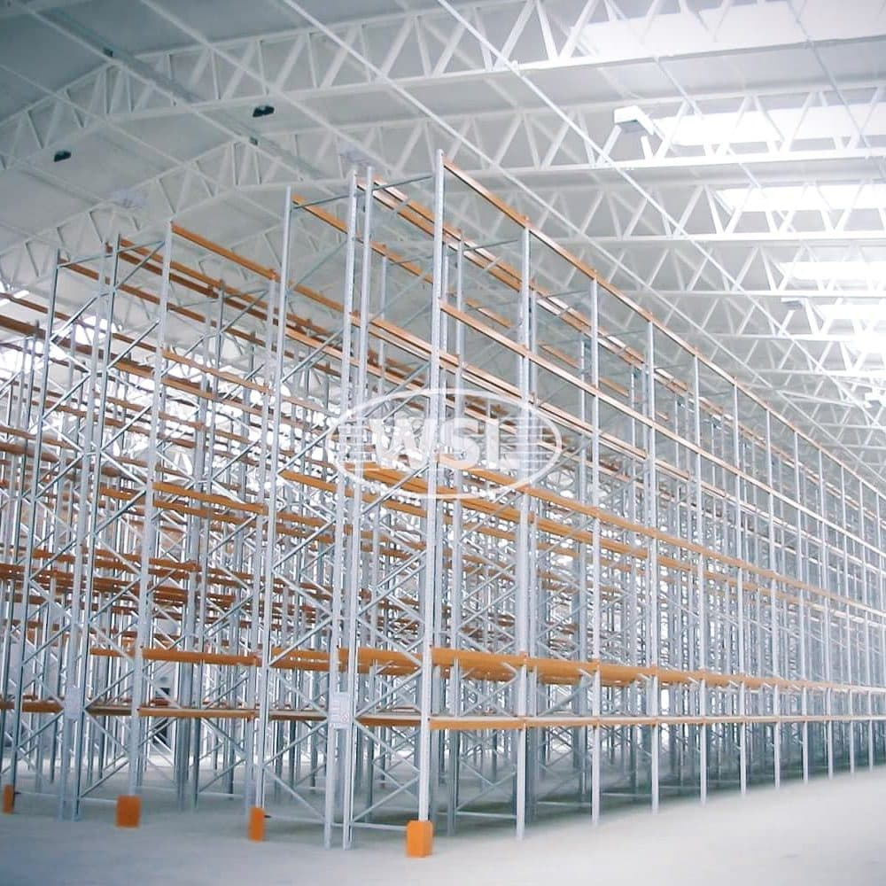 Large storage facility containing long bays of Pallet Racking